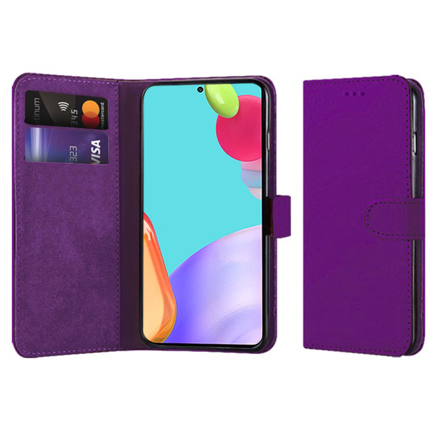 Samsung Galaxy A52 Compatible Book Case With Wallet Slot