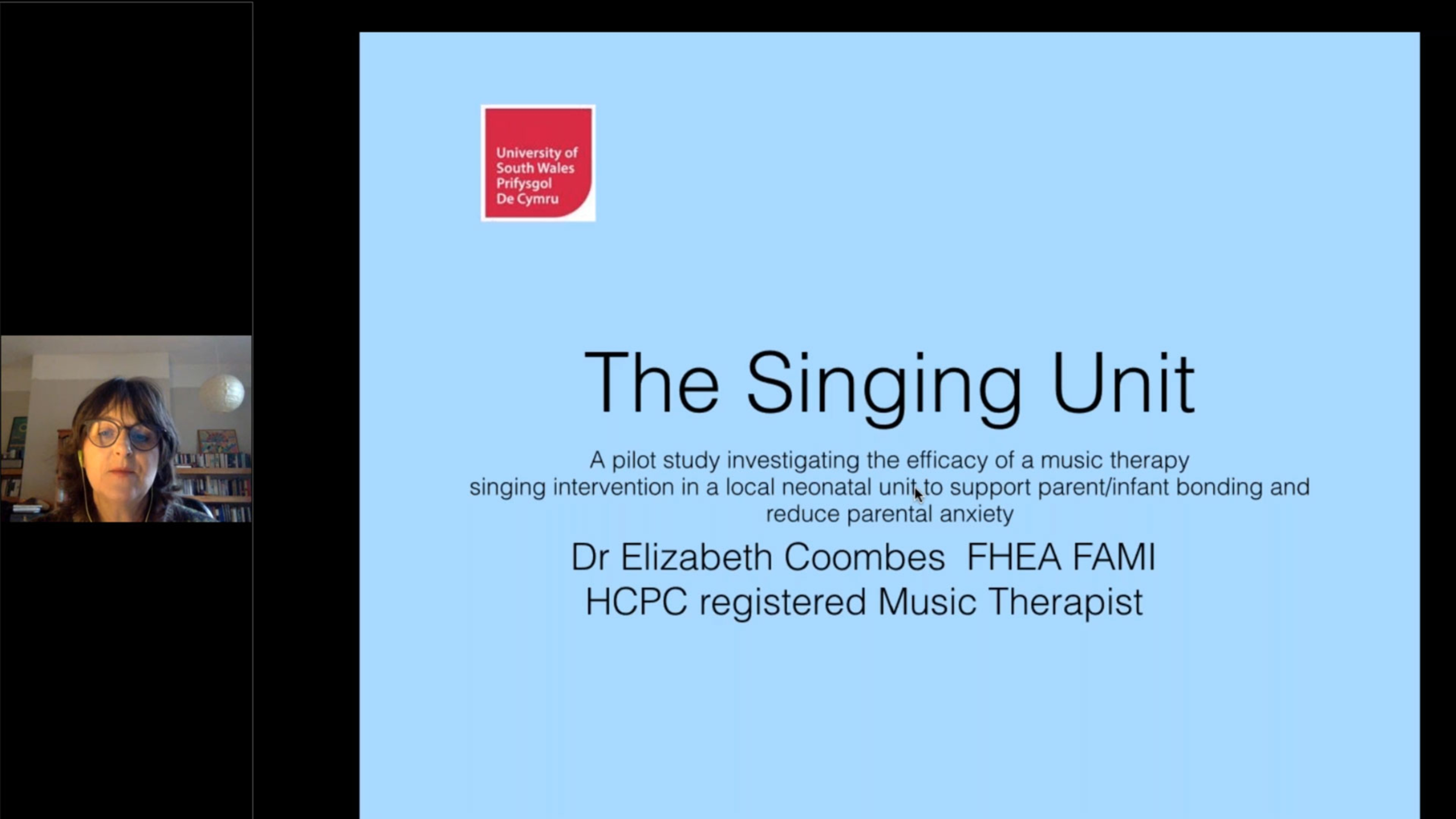 The Singing Unit: A Music Therapy Pilot Study in a UK NICU