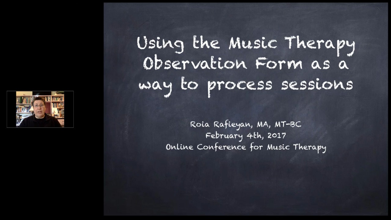 Using the Music Therapy Observation Form as a Way to Process Sessions