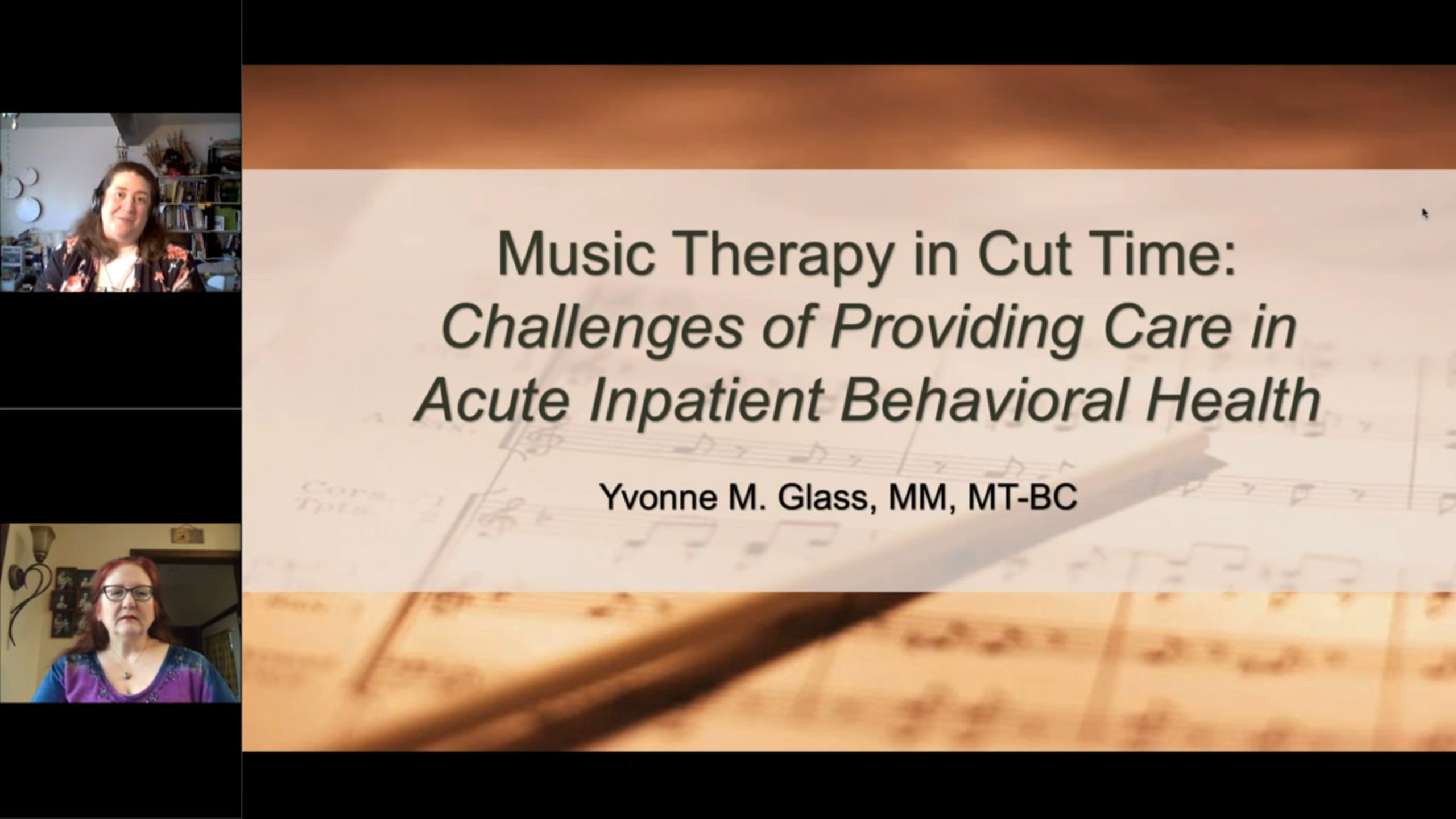 Music Therapy in Cut-Time: Challenges of Providing Care in Acute Inpatient Behavioral Health