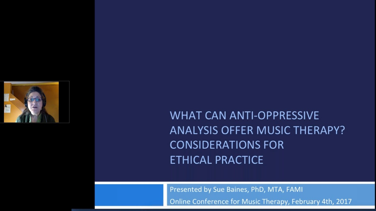 What Can Anti-Oppressive Analysis Offer Music Therapy: Consideration for Ethical Practice