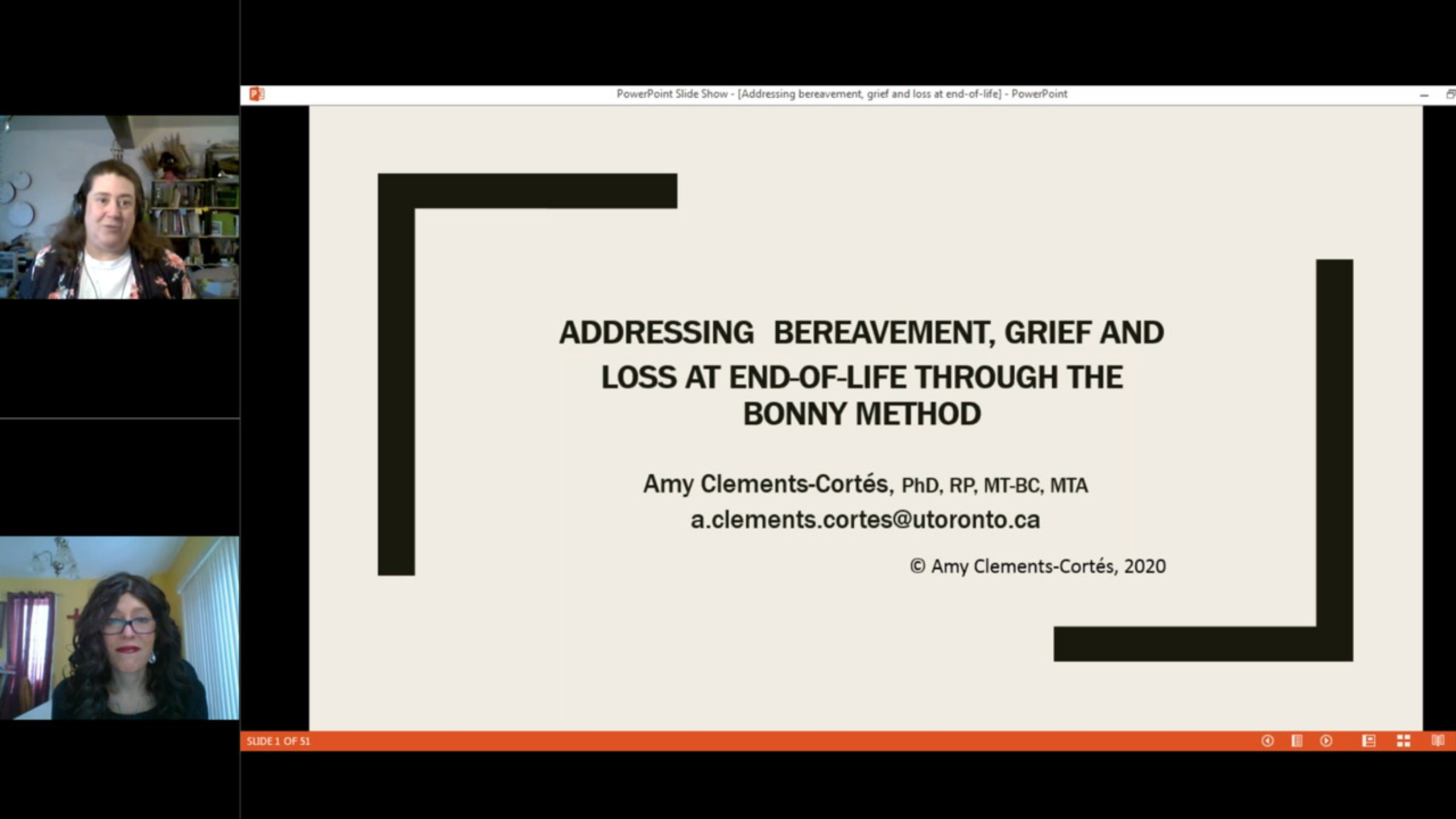 Addressing Bereavement, Grief and Loss at End-of-Life Through the Bonny Method
