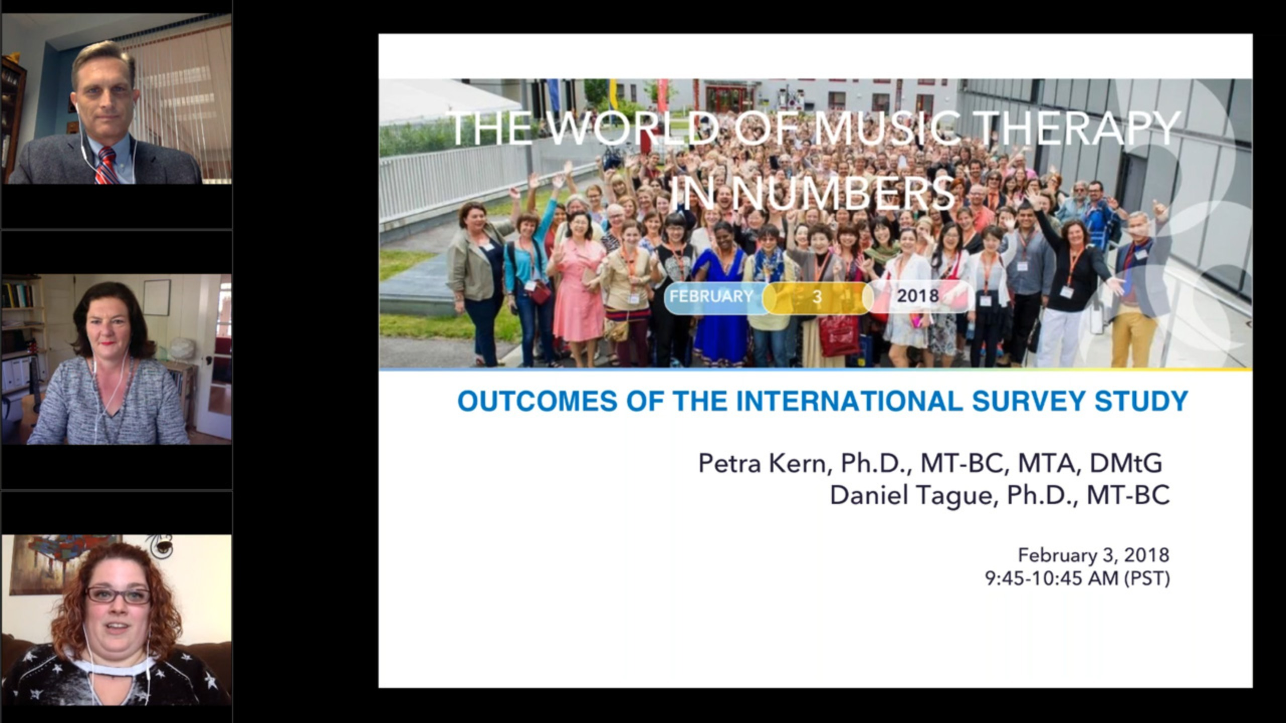 The World of Music Therapy in Numbers: Outcomes of the International Survey Study