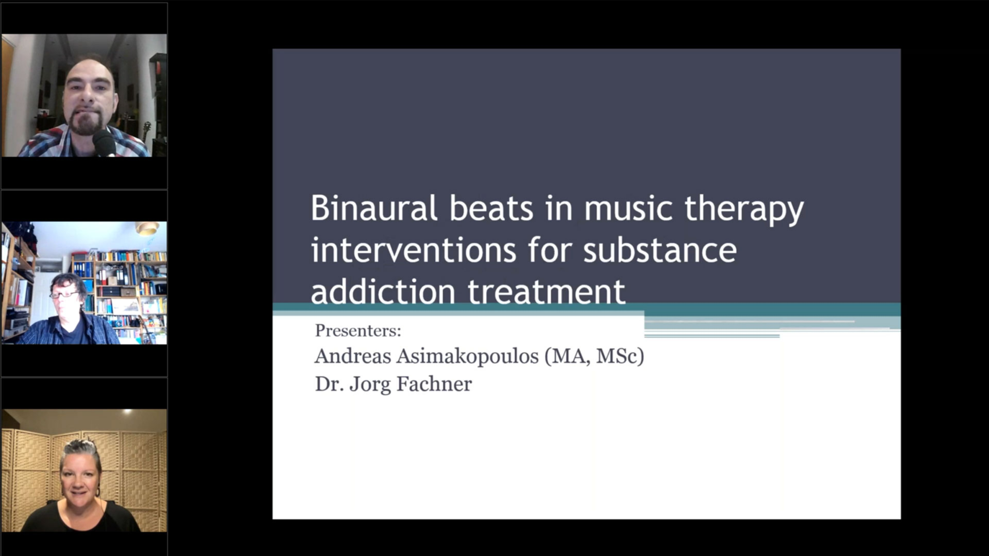 Binaural beats in music therapy interventions for substance addiction treatment