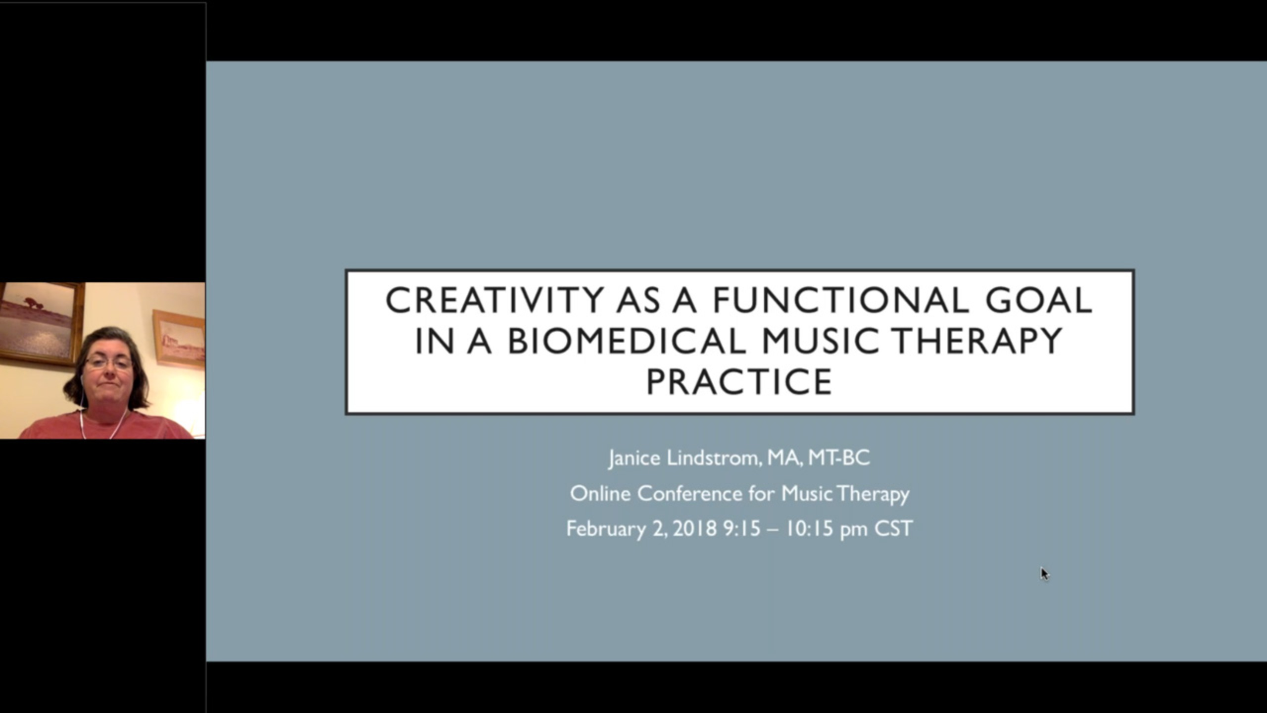 Creativity as a Functional Goal in a Biomedical Music Therapy Practice