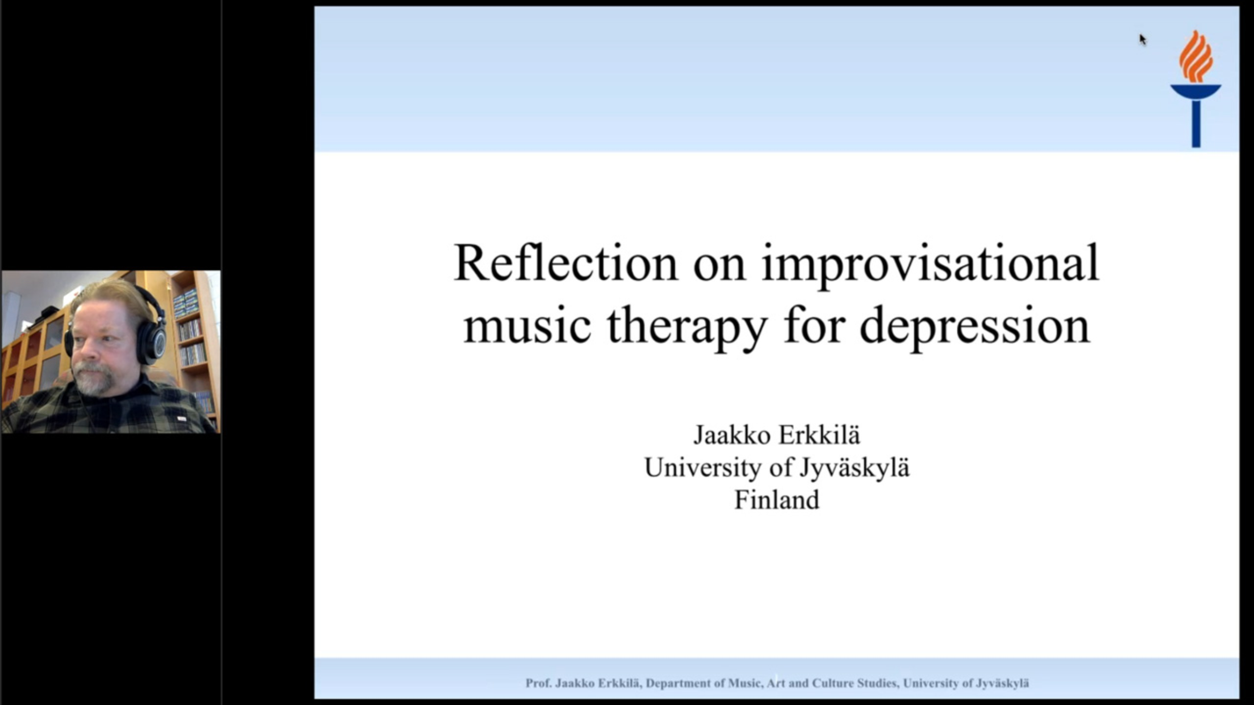 Keynote: Reflection on improvisational music therapy for depression