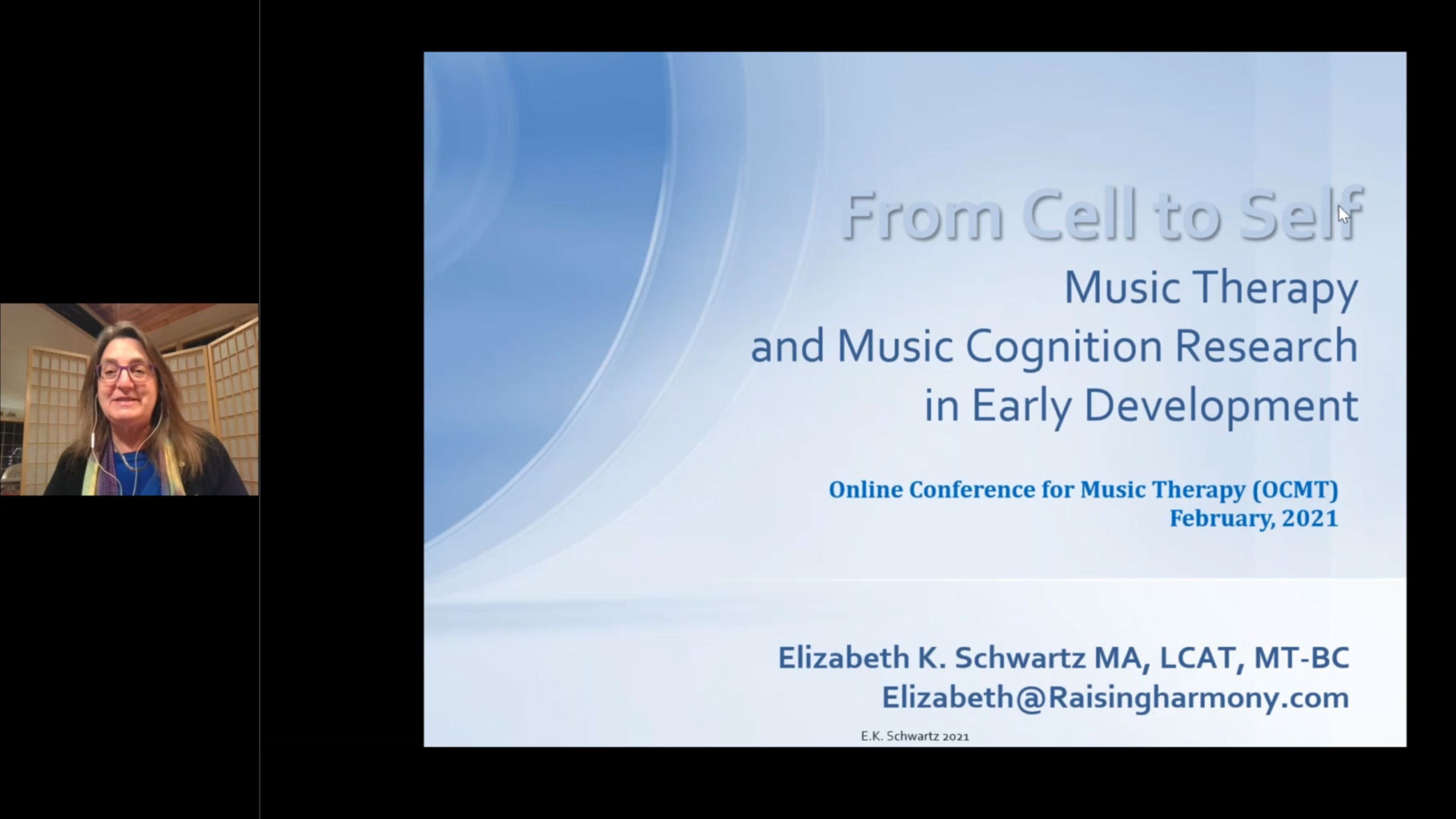 From Cell to Self: Music Therapy and Music Cognition Research in Early Development