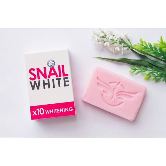 Gluta Snail White Glutathion x 10 whitening Beauty Skin Soap