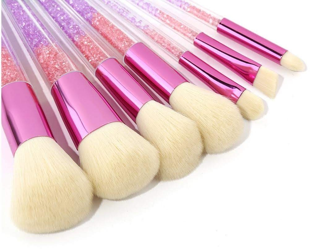 7 pcs Glitter Brosses Maquillage
