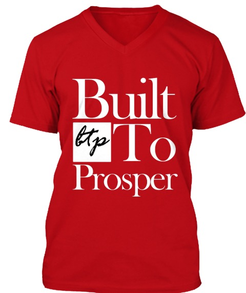 Built To Prosper Classic Red V Neck