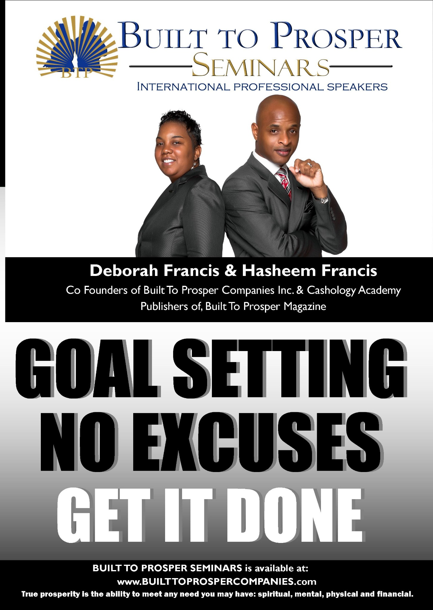 Built To Prosper Seminars: Goal Setting: No Excuses, Get It Done (Audio)