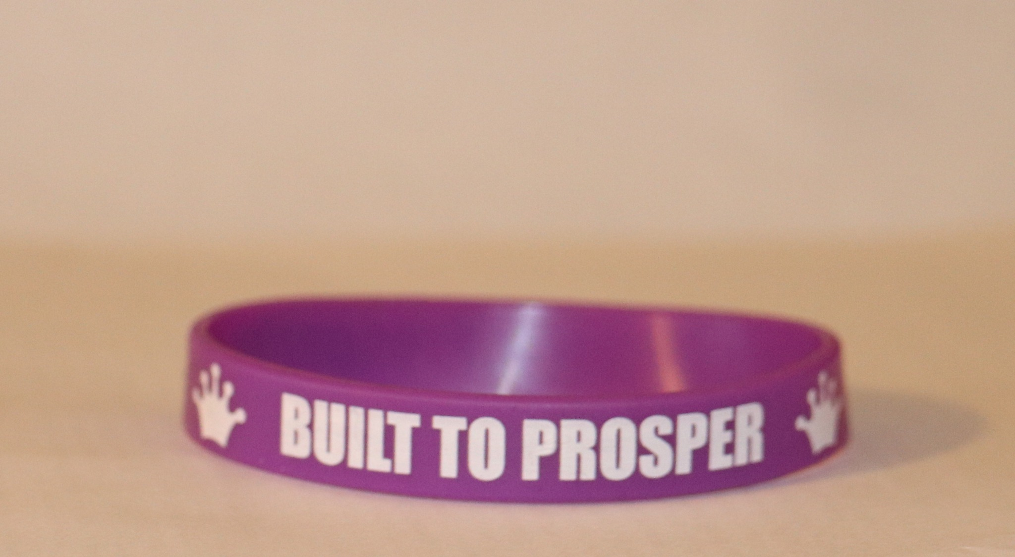 Built To Prosper Purple Wristband