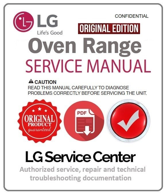LG LDE3011ST Oven Range Service Manual and Repair Instructions