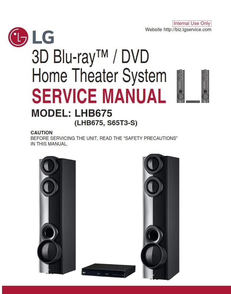 LG LHB675 Home Theater System Original Service Manual and Repair Instructions