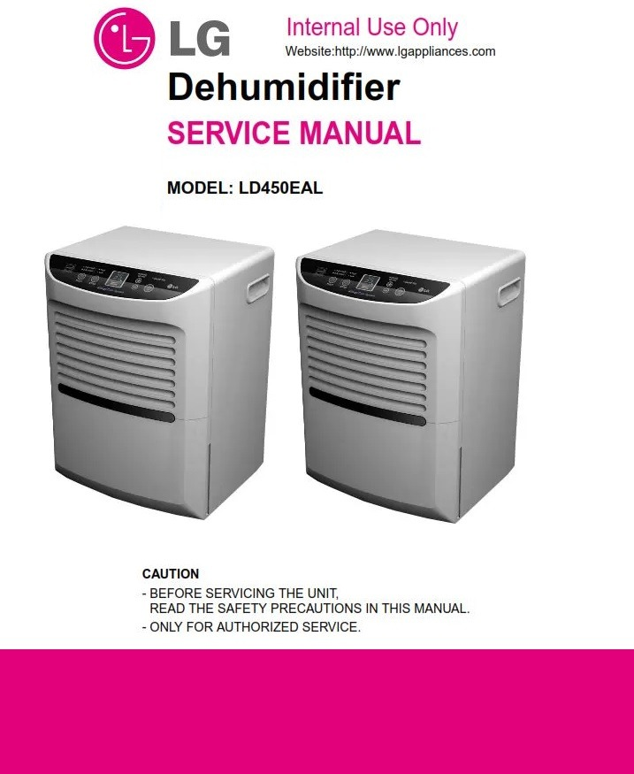 LG LD450EAL Dehumidifier Service Manual and Troubleshooting Guide
