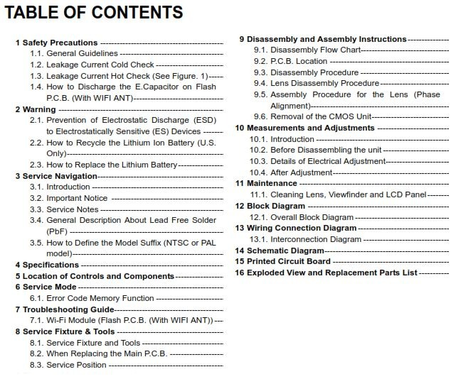 Panasonic Lumix Dc Fz1000 Ii Service Manual And Repair Guide