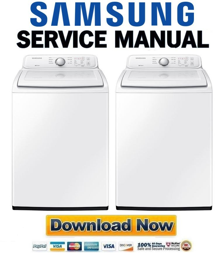 Samsung Wa40j3000aw A2 Washing Machine Service Manual And Repair Guide Any Service Manual