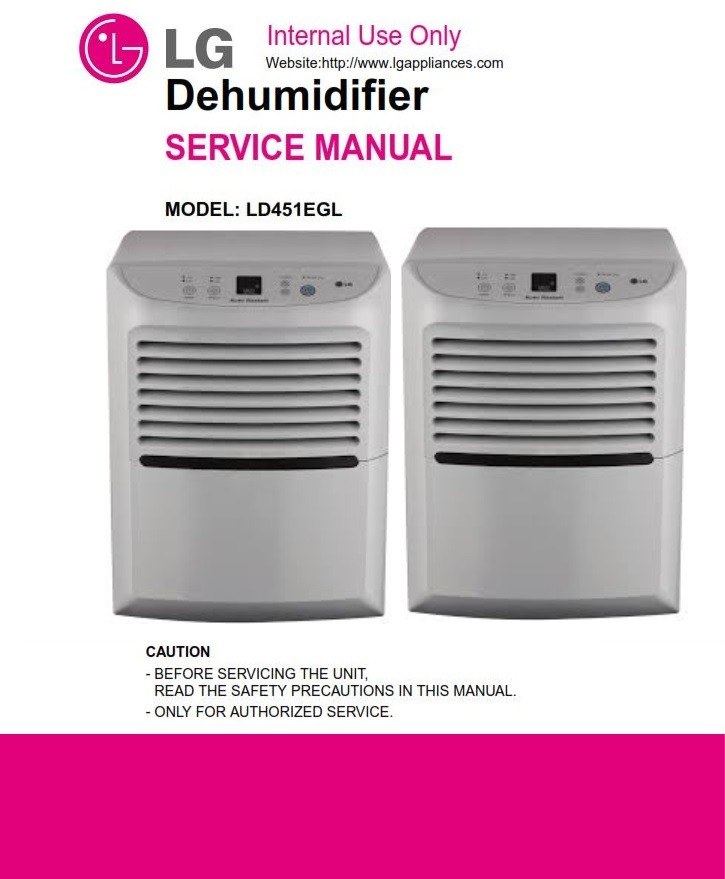 LG LD451EGL Dehumidifier Service Manual and Troubleshooting Guide