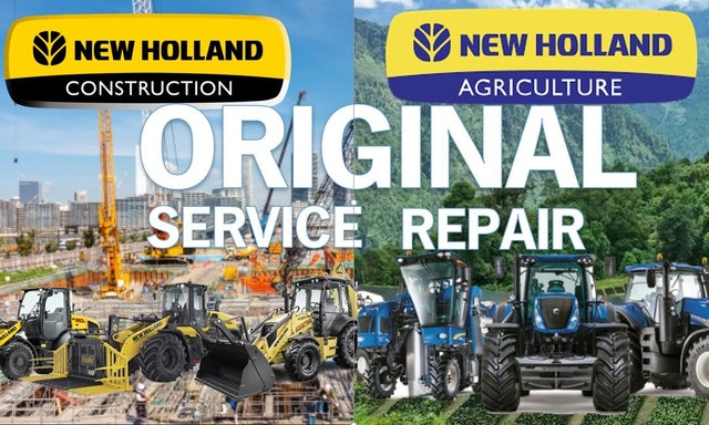New Holland 4835 5635 6635 7635 Tractor Service Manual and Repair Guide