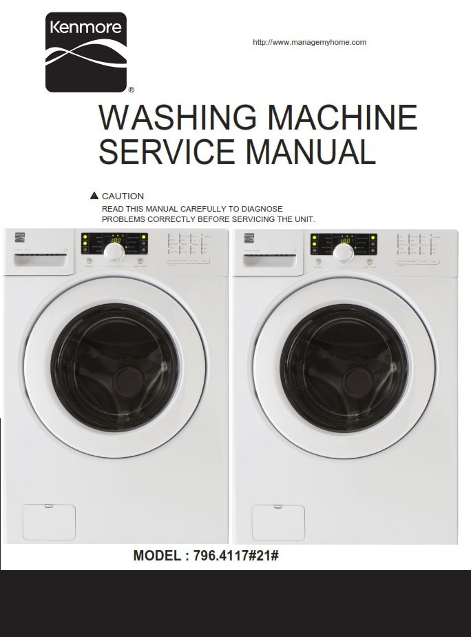 Kenmore 41172 Washer Service Manual and Repair Instructions
