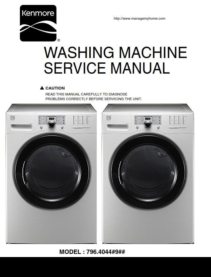 Kenmore 40441 Washer Service Manual and Repair Instructions