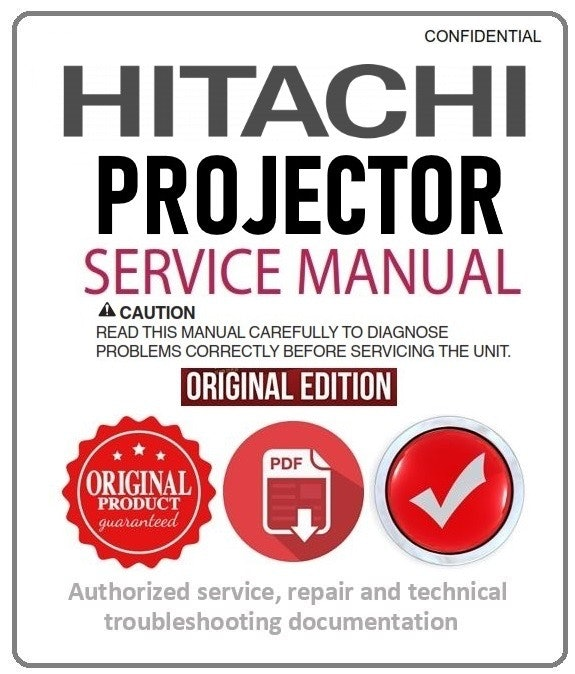 Hitachi CP A200 Projector Service Manual and Repair Instructions