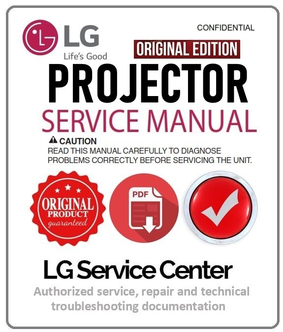 LG AF115 Projector Service Manual and Repair Guide