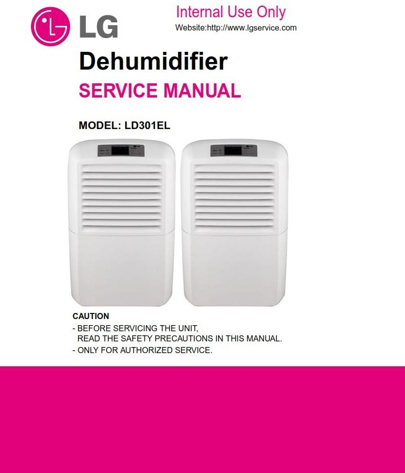 LG LD301EL Dehumidifier Service Manual and Troubleshooting Guide