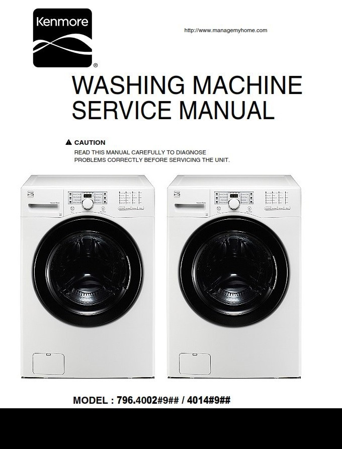 Kenmore 40021 Washer Service Manual and Repair Instructions