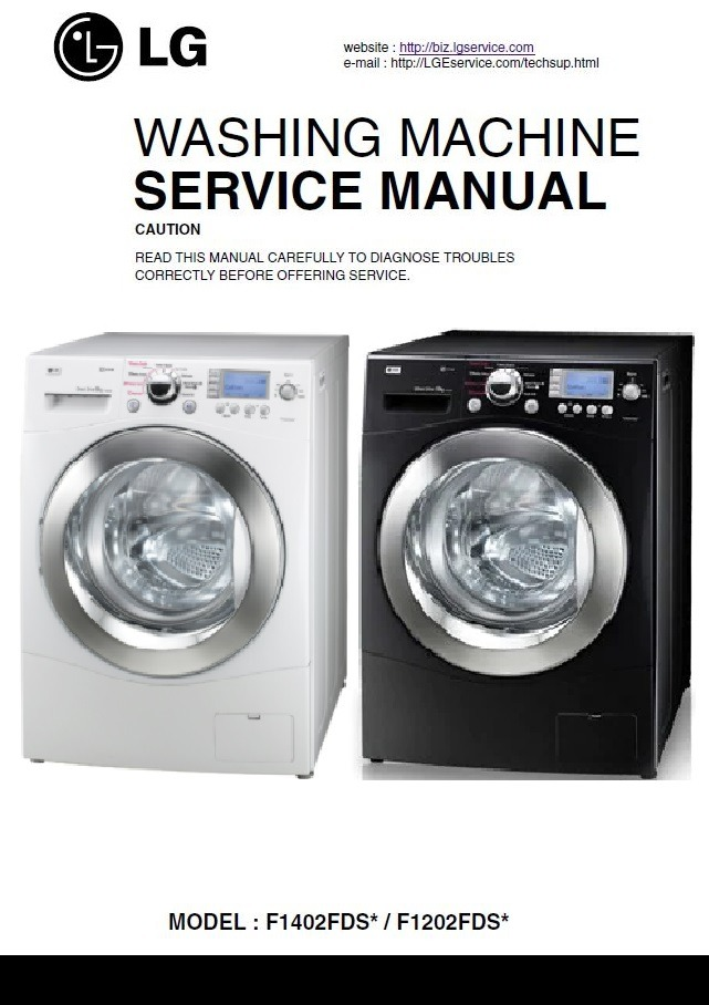 LG F1402FDS F1202FDS Series Washer Service Manual and Repair Guide