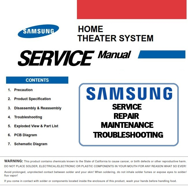Samsung HT A100 HT A100T Home Theater System Service Manual and Repair Guide