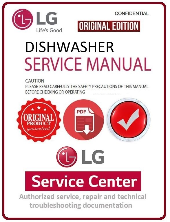 LG D14028WH Dishwasher Service Manual and Troubleshooting Guide
