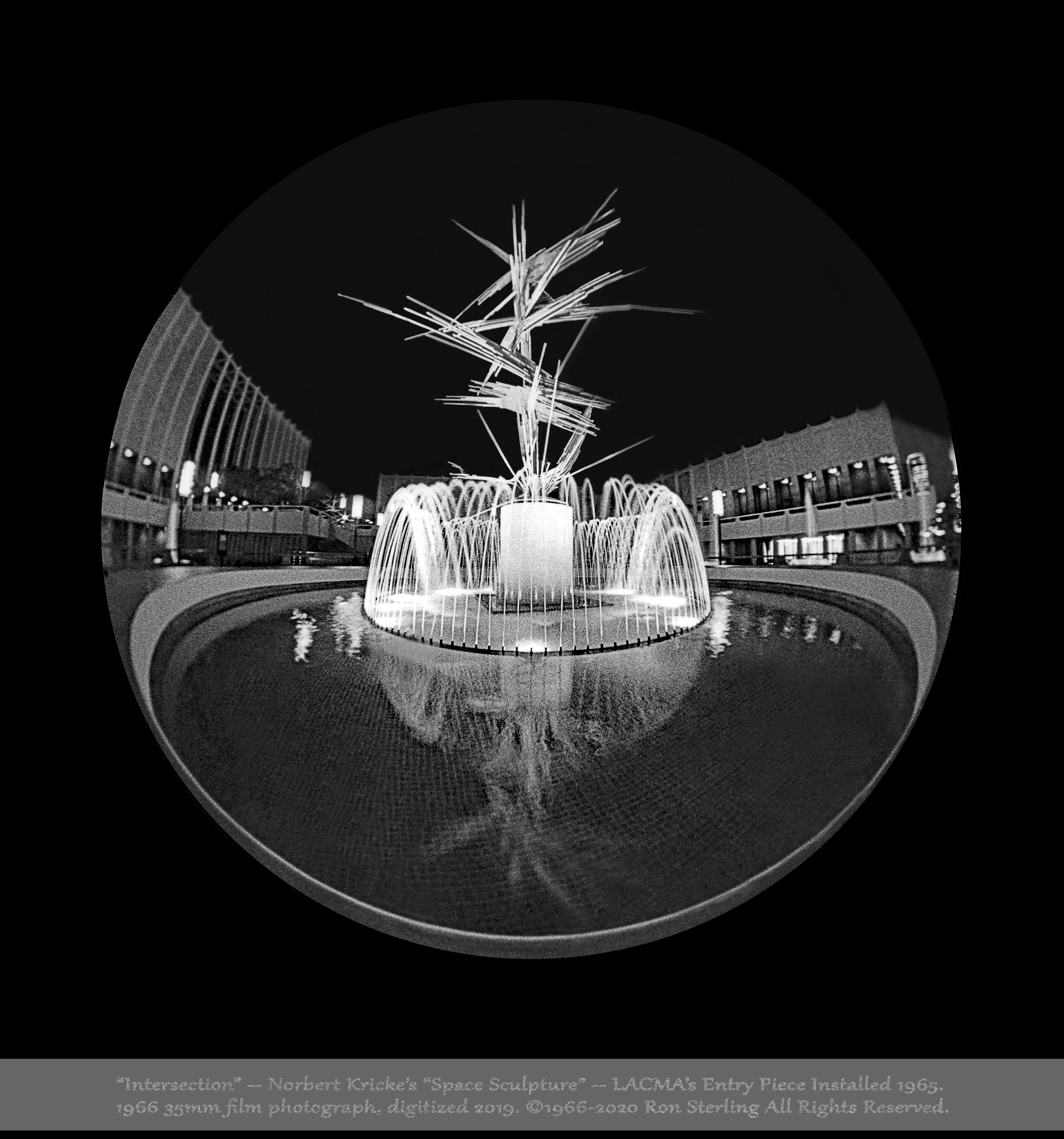 """""""Intersection.""""  Kricke Sculpture, The Original Main Entry Piece When LACMA Opened in 1965"""
