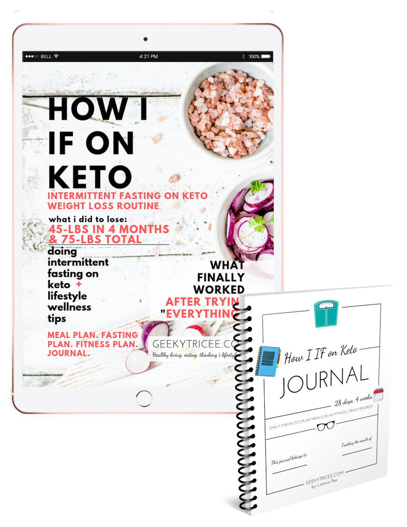 How I IF on Keto ebook + journal