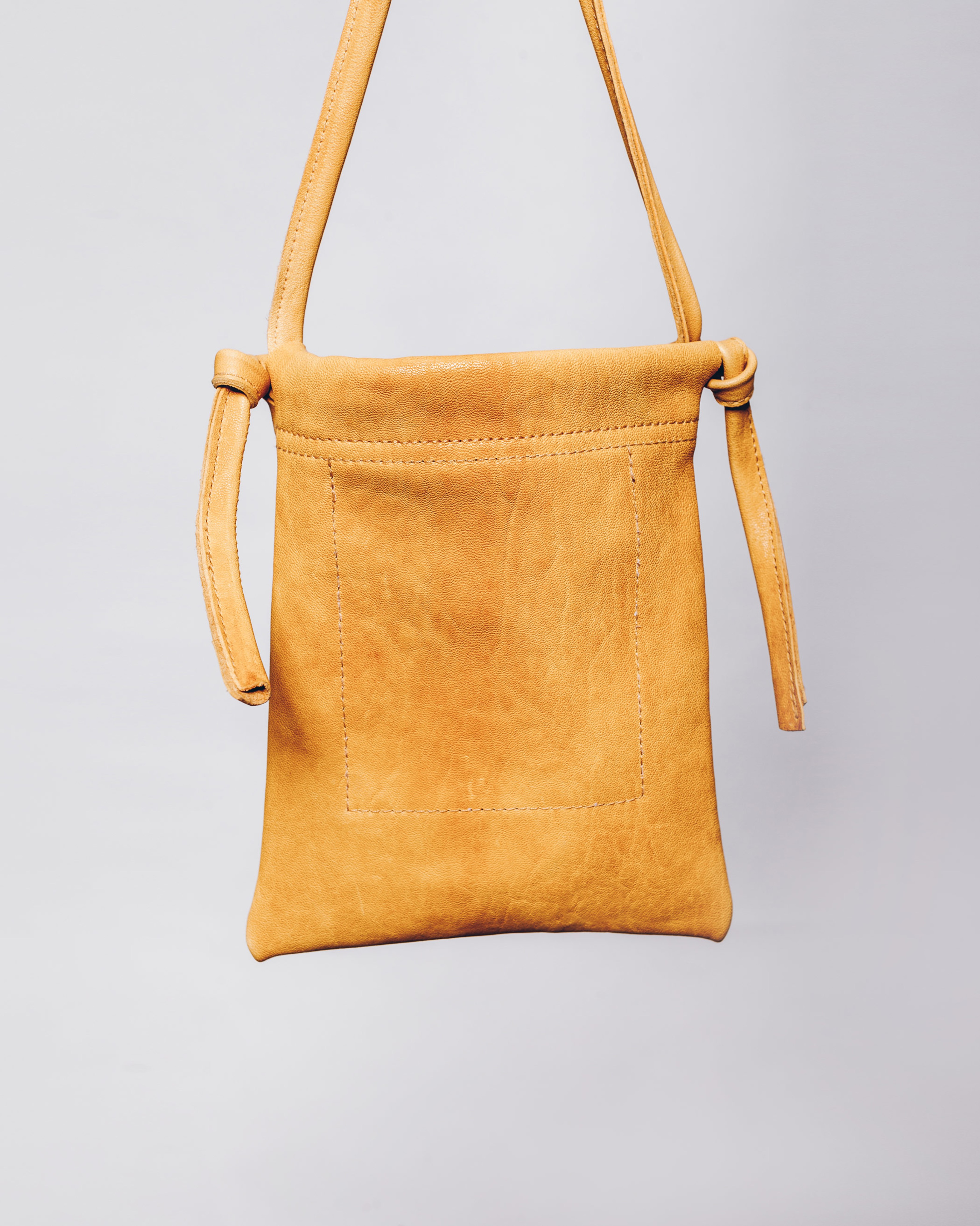 MESSED NECK BAG - YELLOW