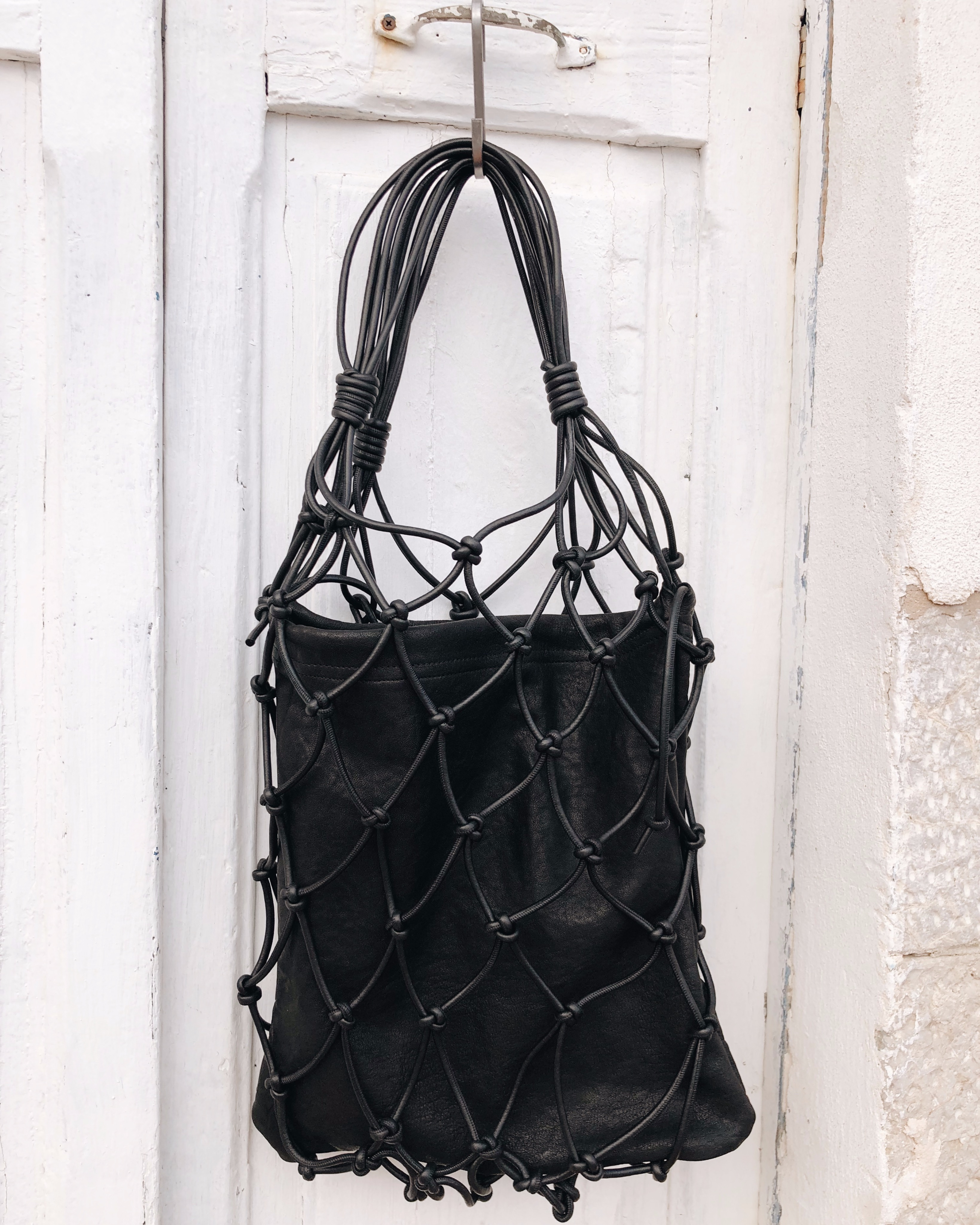 MESSED NET BAG - BLACK