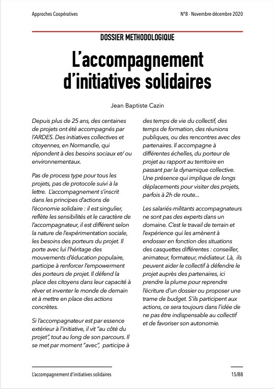 Approches Coopératives N° 8