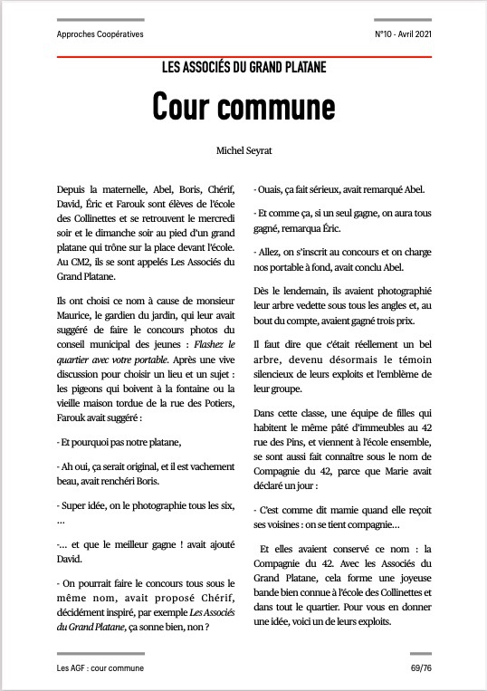 Approches Coopératives N° 10