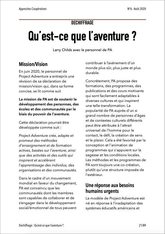 Approches Coopératives N° 6