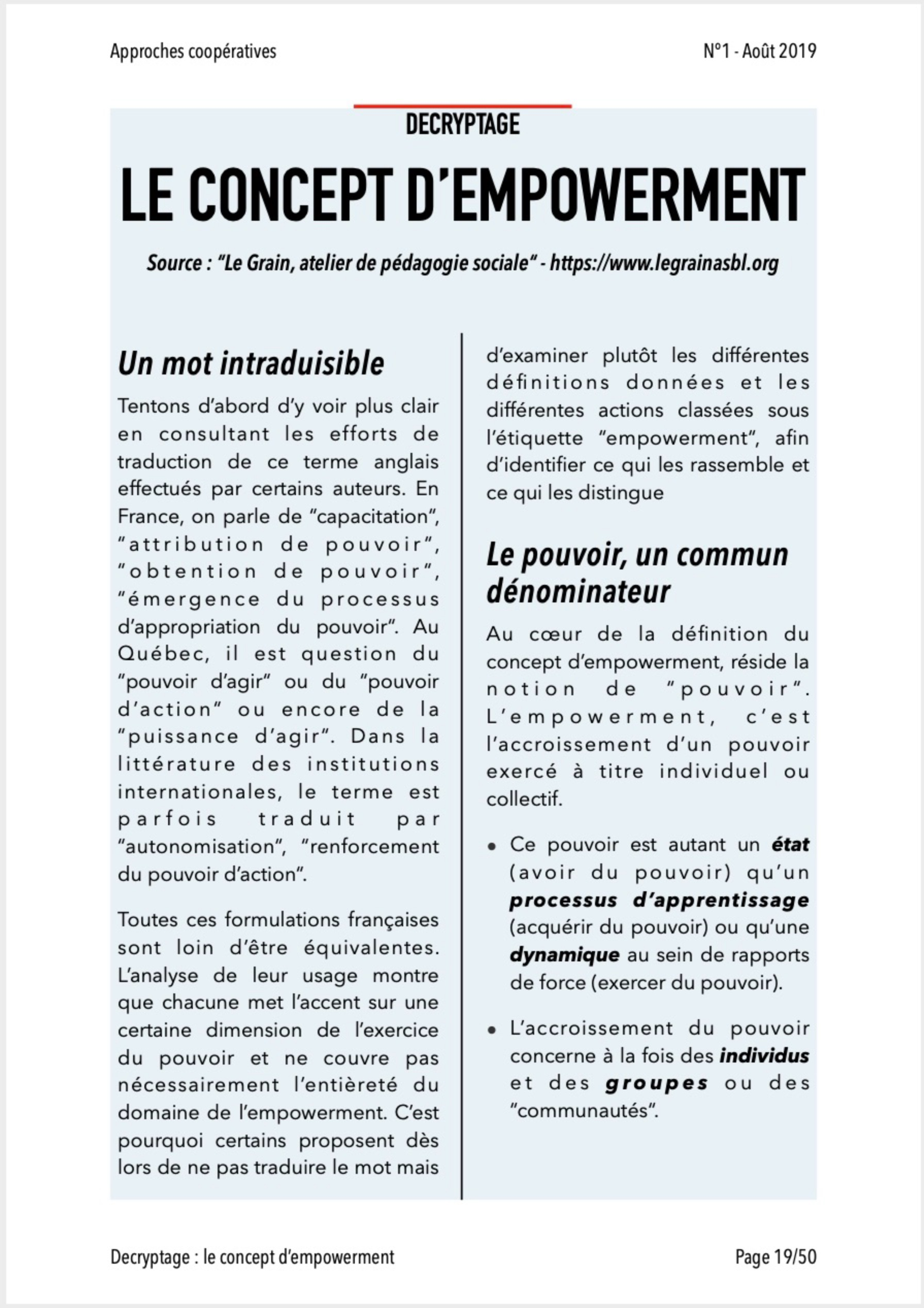 Approches Coopératives N° 1