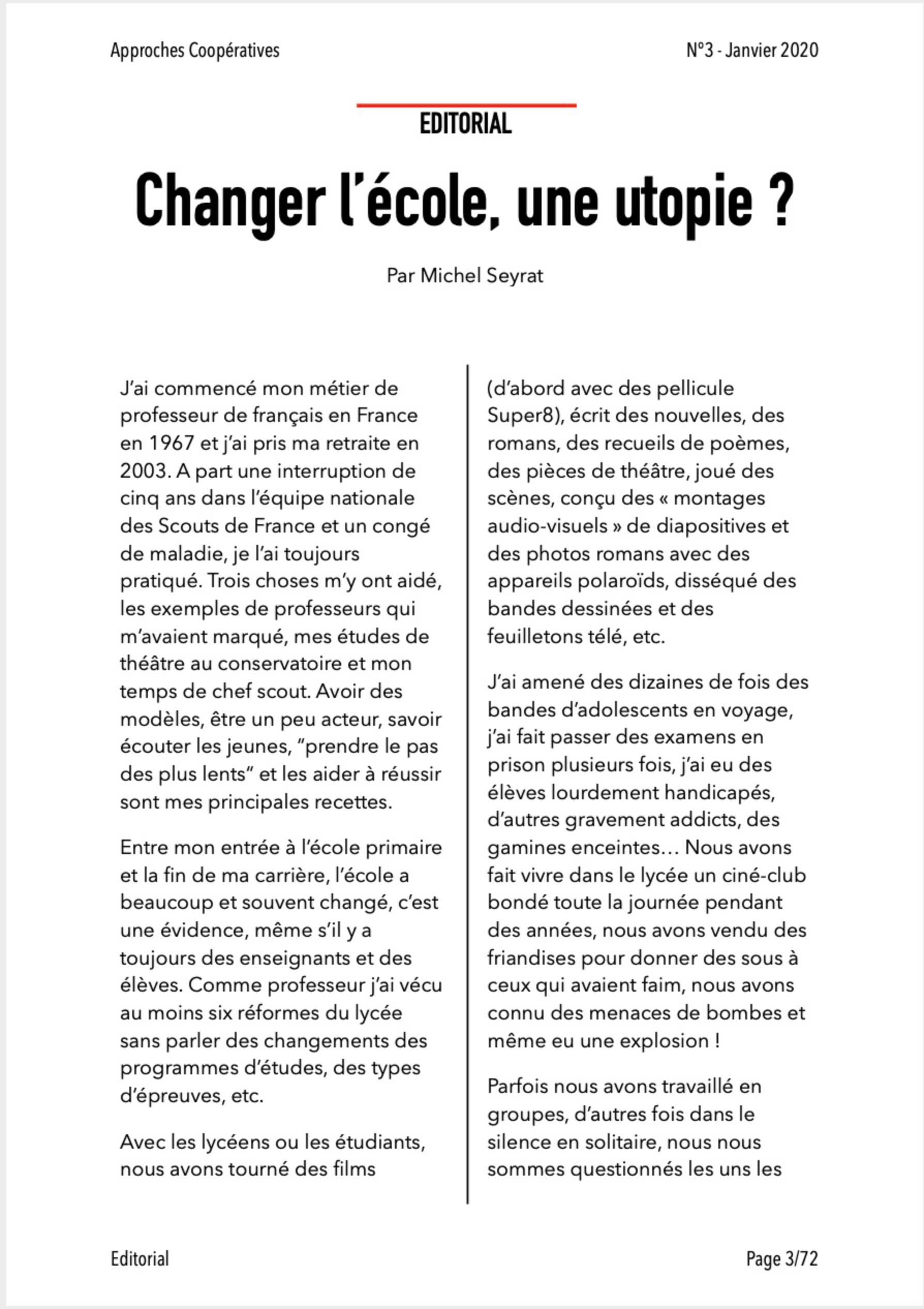 Approches Coopératives #3