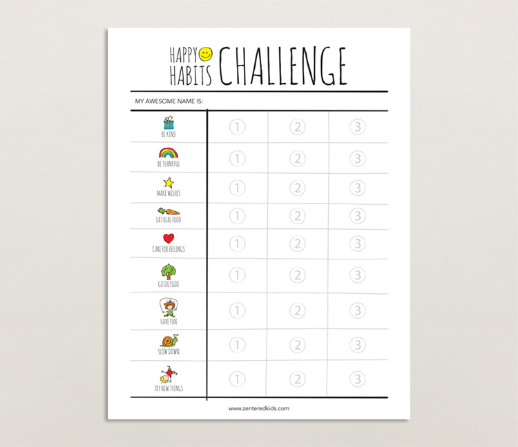 Happy Habits Challenge