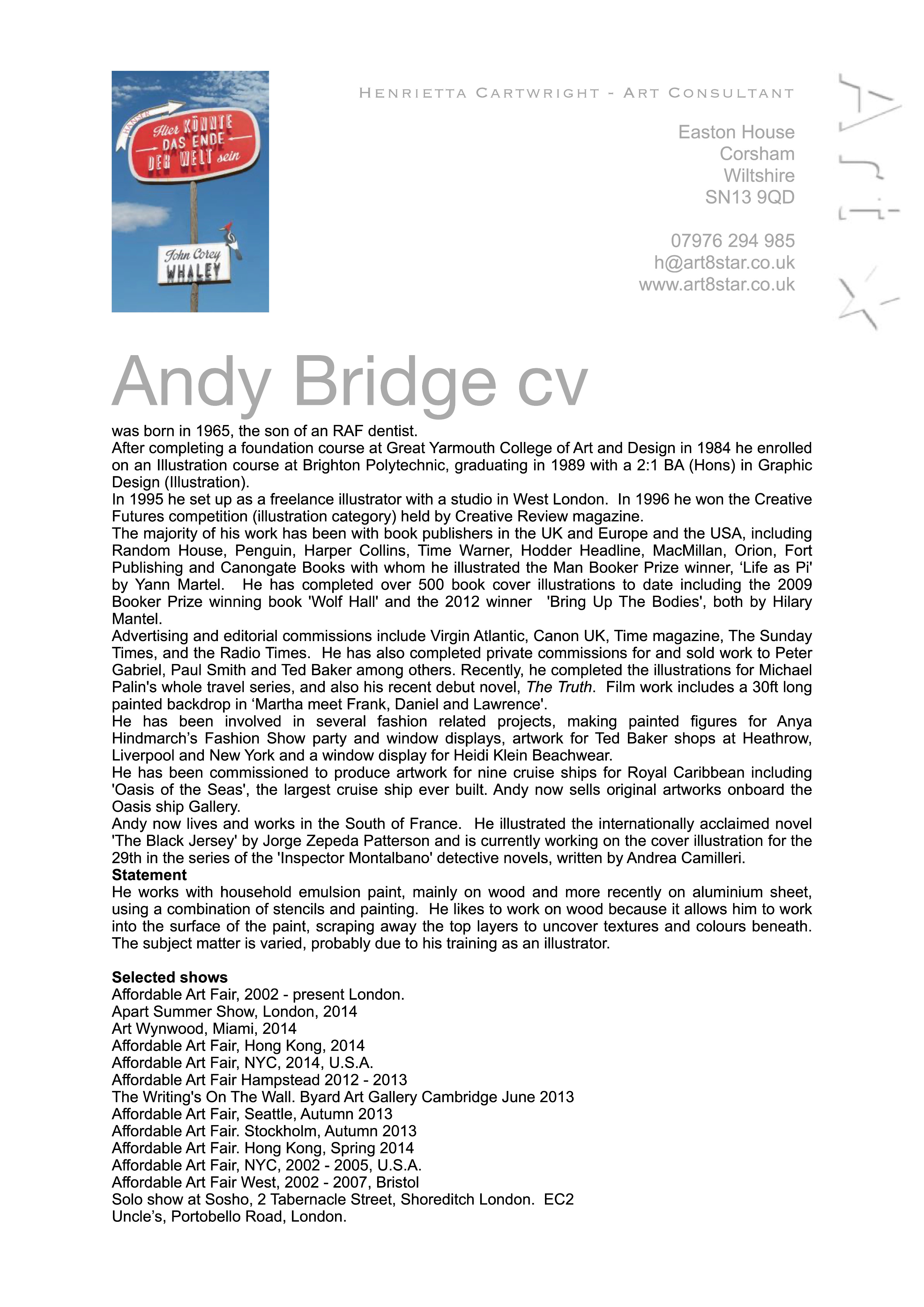 Andy Bridge cv