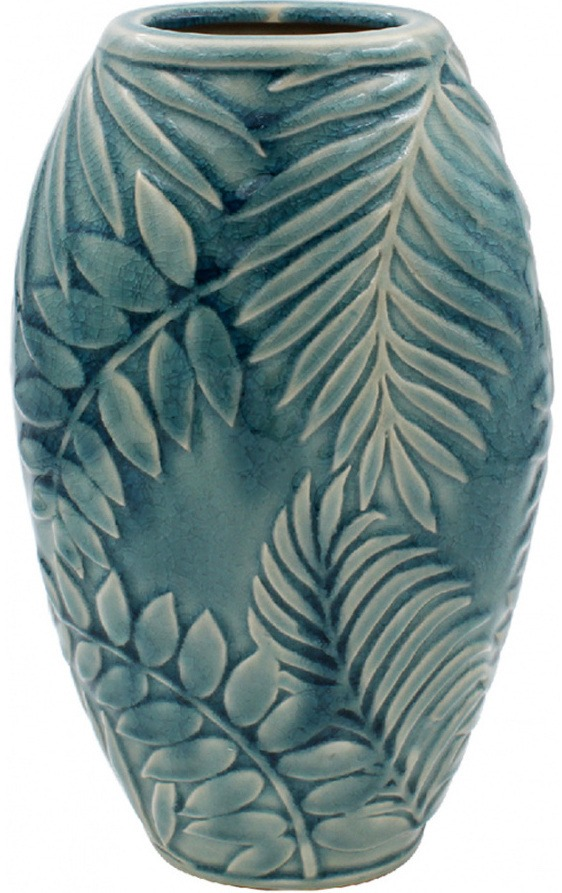 Vase i keramik, Tropical Leaf