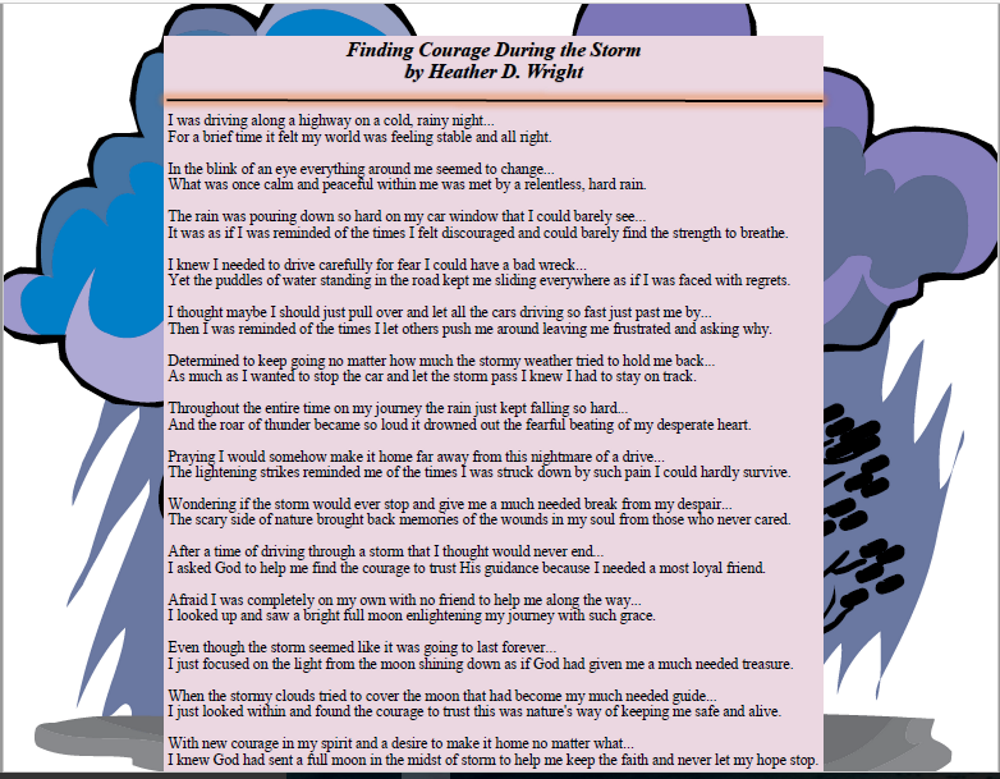 Finding Courage During the Storm - Printable Digital Download