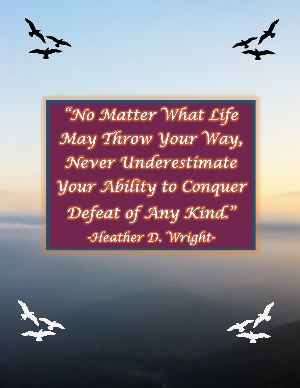 Quote on Overcoming Defeat - Printable Quote Download