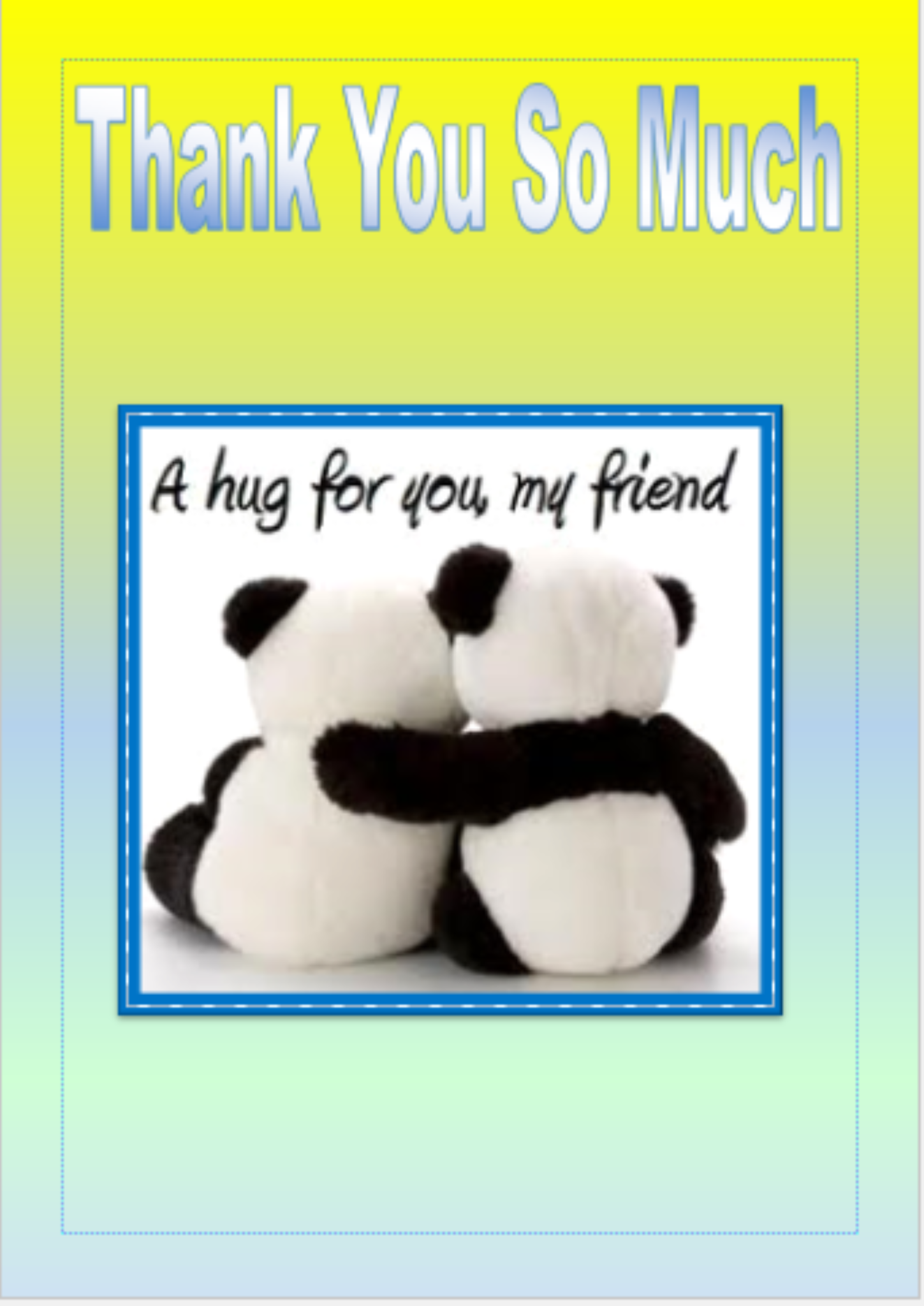 Thank You Card 1 - Printable Instant download