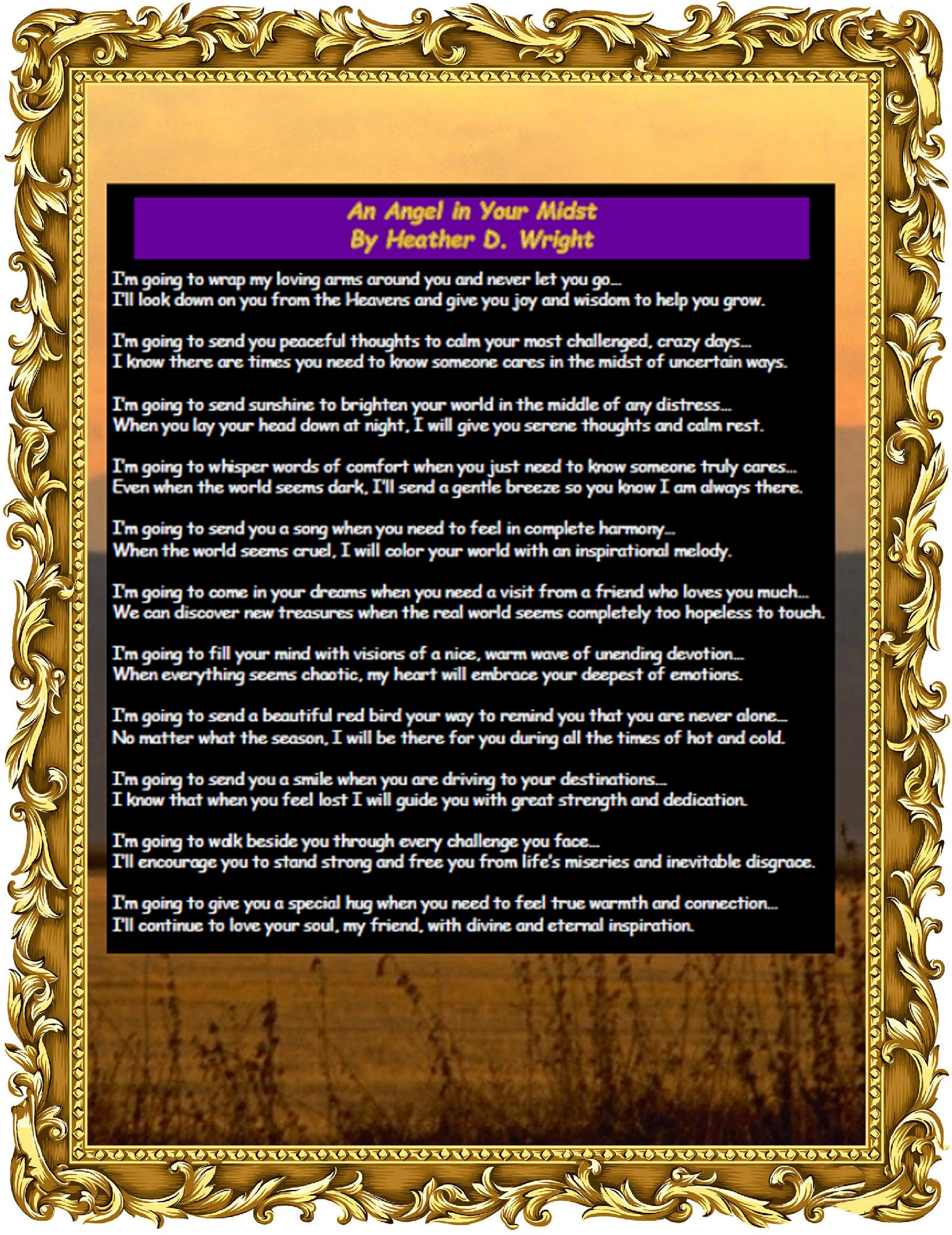 An Angel in Your Midst - Printable Digital Download