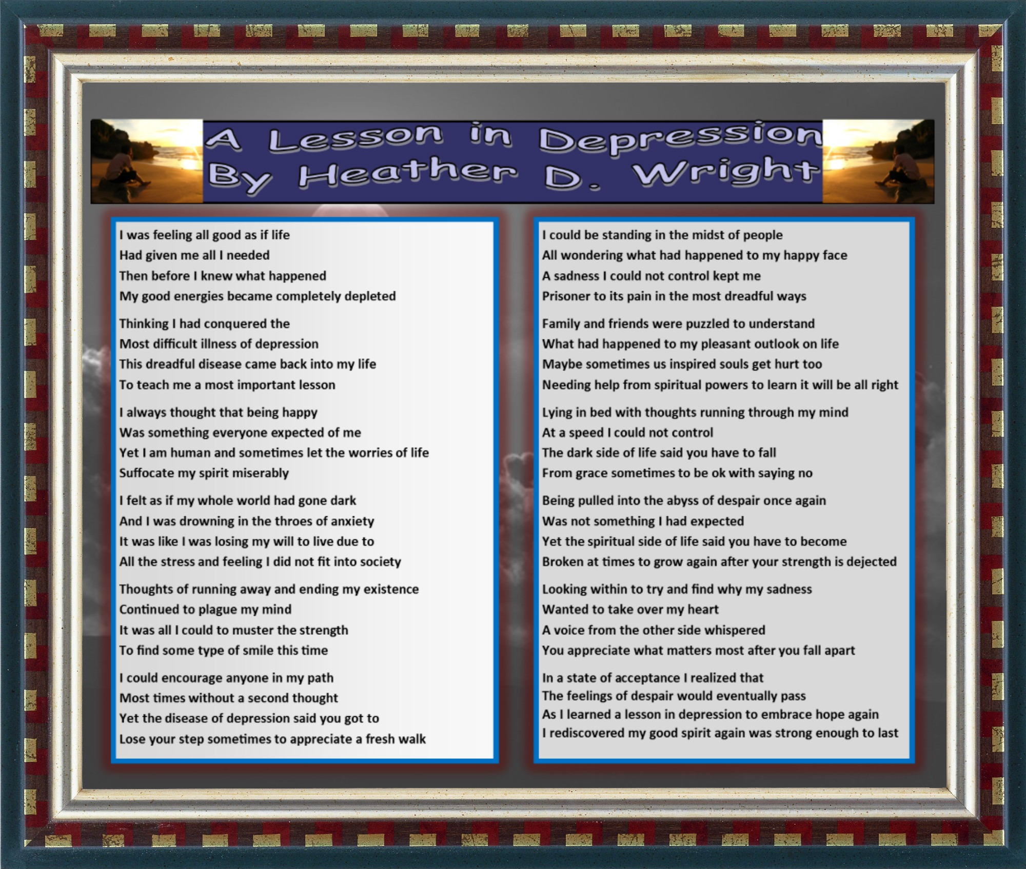A Lesson in Depression - Printable Digital Download