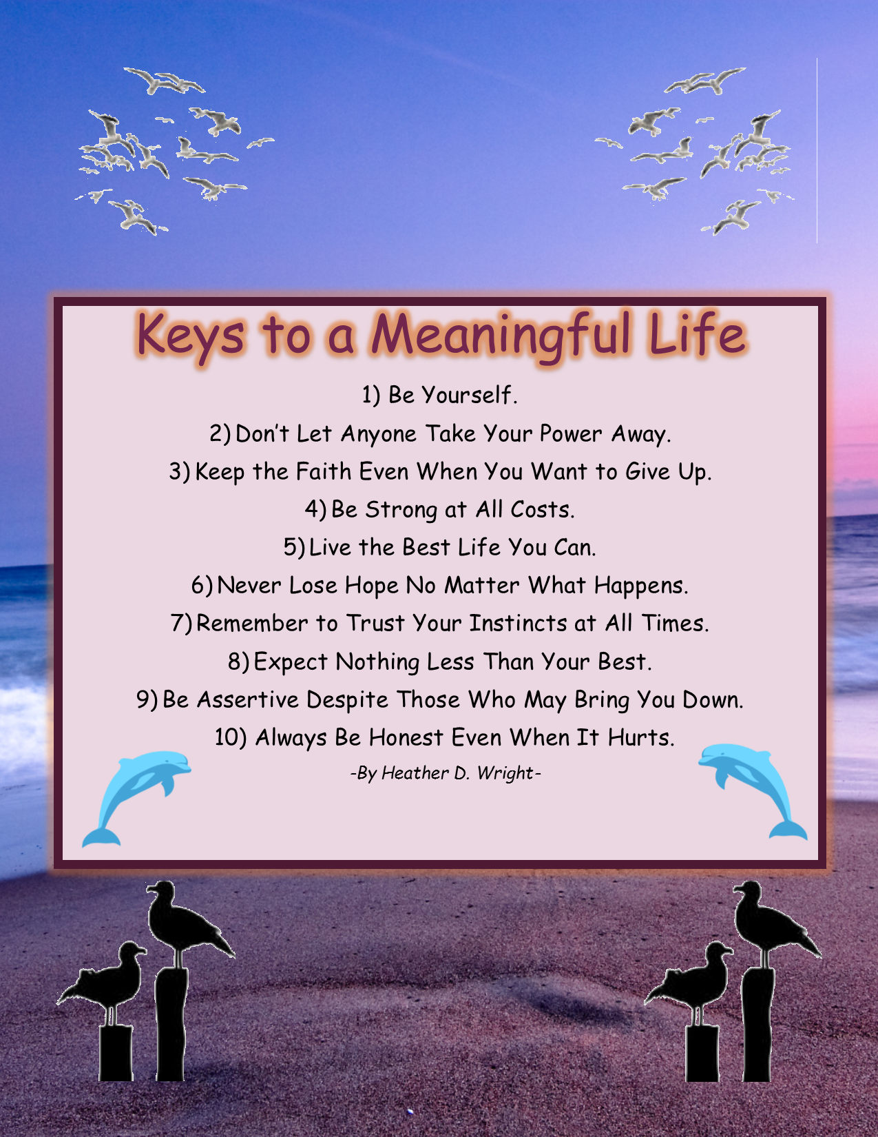 Keys to a Meaningful Life - Printable Inspirational Art Download